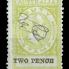 South Australia: Broken N Variety - 1918 'TWO PENCE' Overprint on 1d Stamp Duty