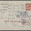 Great Britain: 1917 - Small Cover to Soldier in France - Various Censor and Re-direction H/S